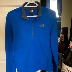 Blue North Face fleece quarter zip size - S
